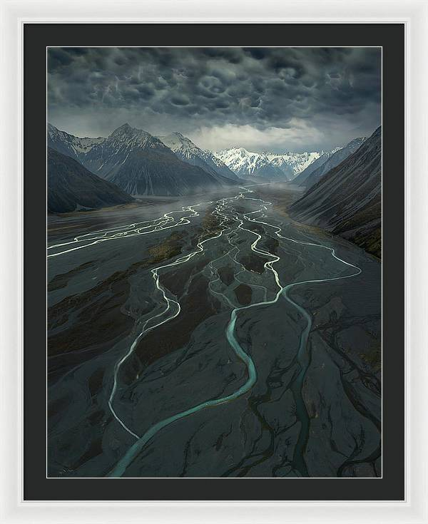 The Veins of the Mountain - Framed Print