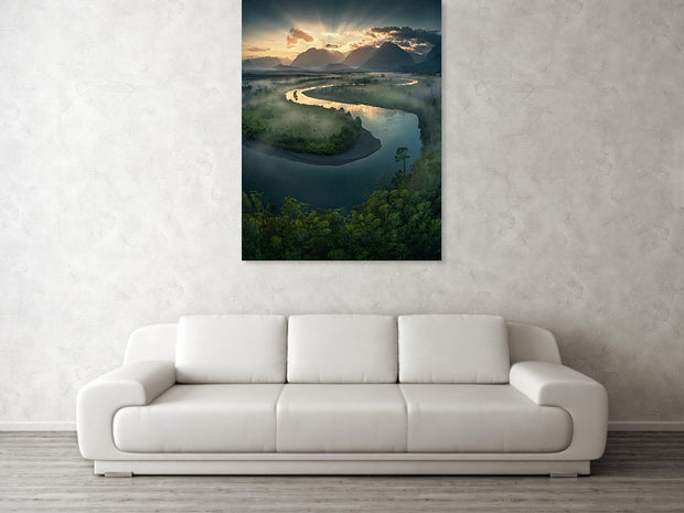 The Winding River - Art Print