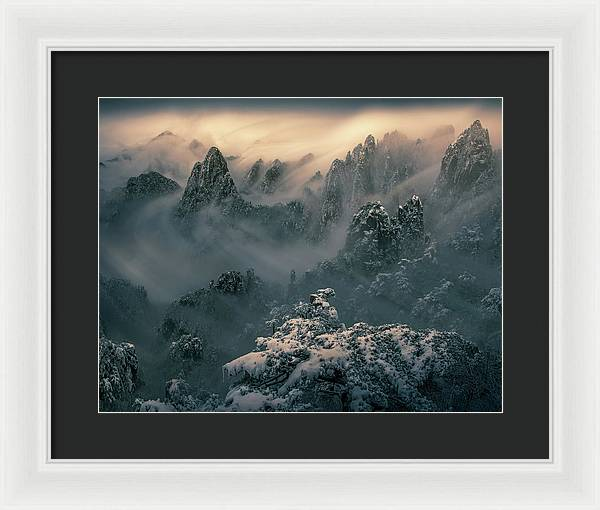 The Winter Storm - Framed Print