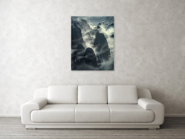 The Yellow Mountains - Canvas Print