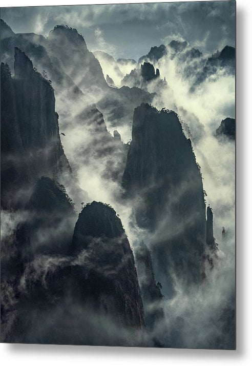 The Yellow Mountains - Metal Print