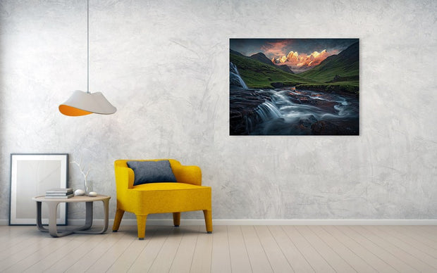 To the Bright Mountains - Art Print