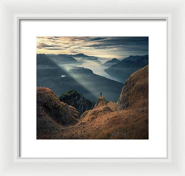 Watching the Sunset - Framed Print