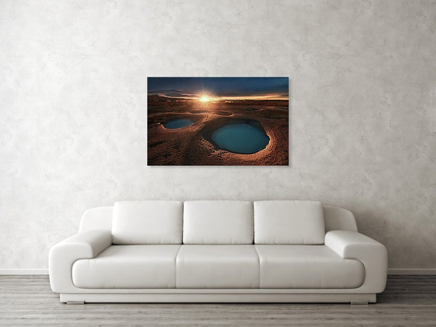 Water On the Moon - Canvas Print