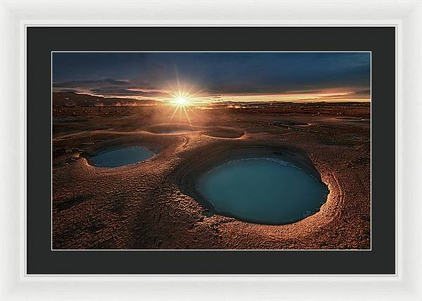 Water On the Moon - Framed Print