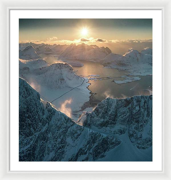 Windy Winter Summits - Framed Print