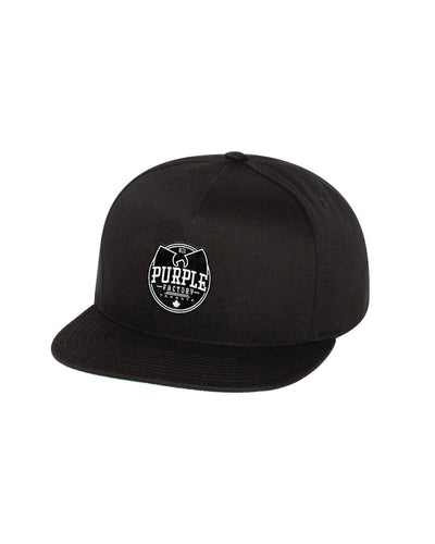 Purple Factory Black Flatbill Hat