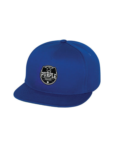 Purple Factory Blue Flatbill Hat
