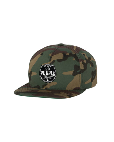 Purple Factory Camo Flatbill Hat