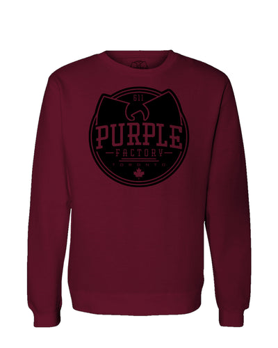 Purple Factory Full Logo Crewneck Sweatshirt