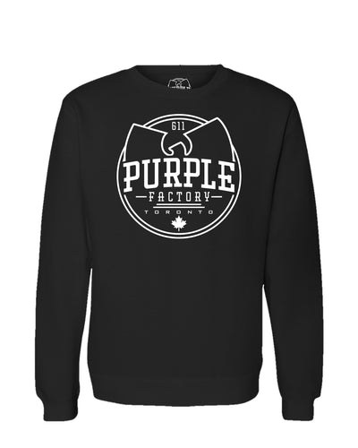 Purple Factory Outline Logo Crewneck Sweatshirt