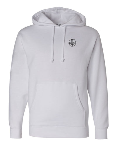 Purple Factory Small Outline Logo Hoodie