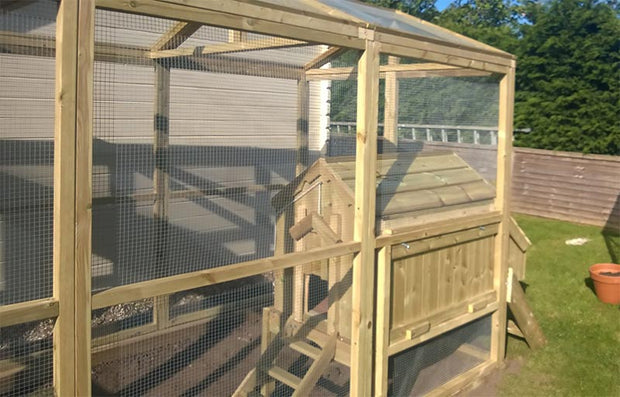 The Sanctuary Walk in Chicken Run – With Internal House