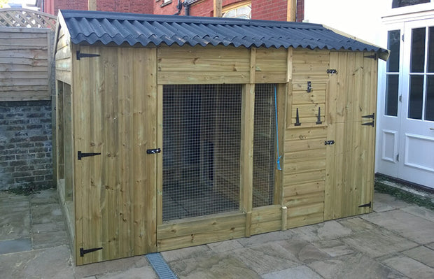 The Glenville Large Outdoor Dog Kennel – 12ft