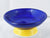 Royal blue yellow base bowl