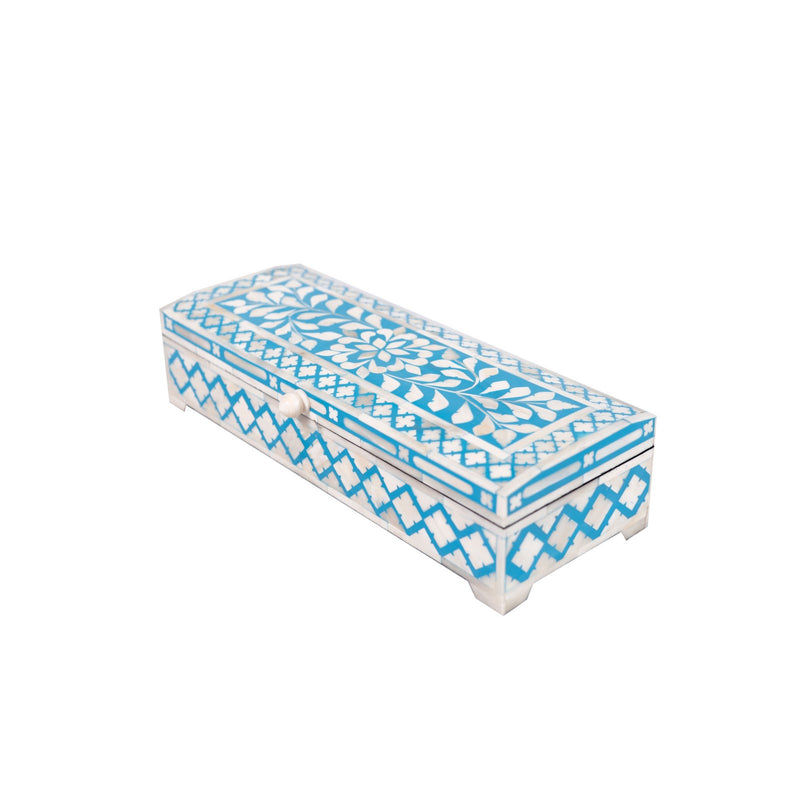 Bone Inlay Diamond Box (Blue)