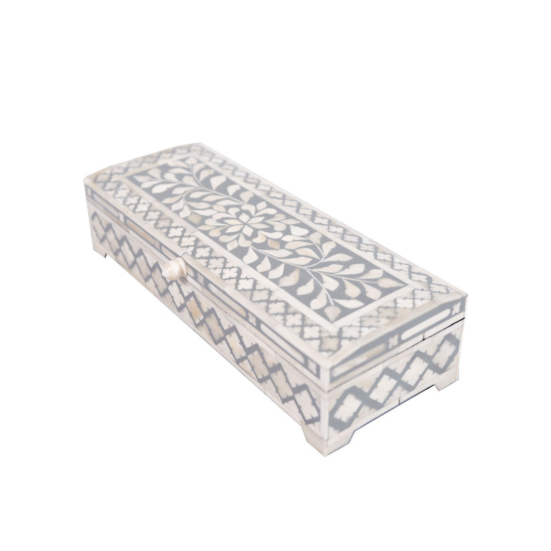 Bone Inlay Diamond Box (Grey)