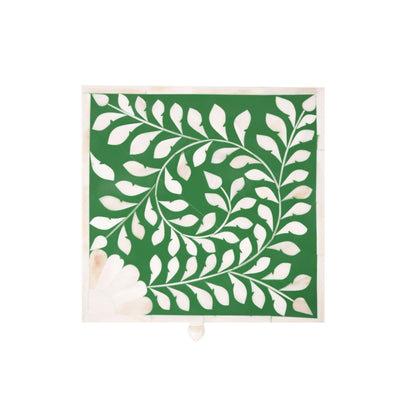 Bone Inlay Square Decorative Box (Green)