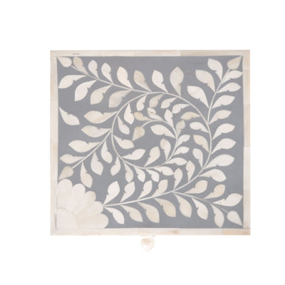 Bone Inlay Square Decorative Box (Grey)