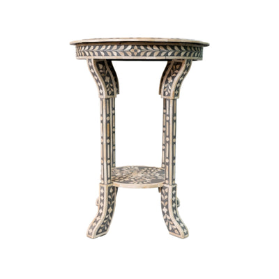 Bone Inlay King Side Table