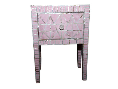 Pink Mother Of Pearl Bed Side