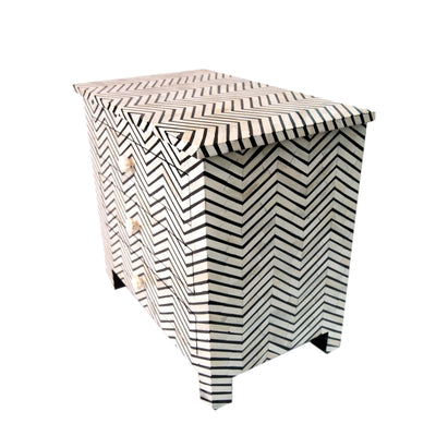 bone inaly bedside table chevron