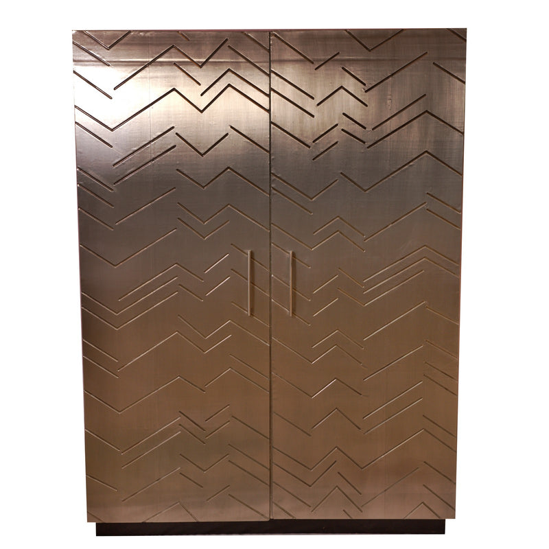 Sliver Metal Cabinet (plated)