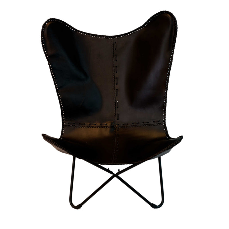 Butterfly Chair with Iron Frame (Black)