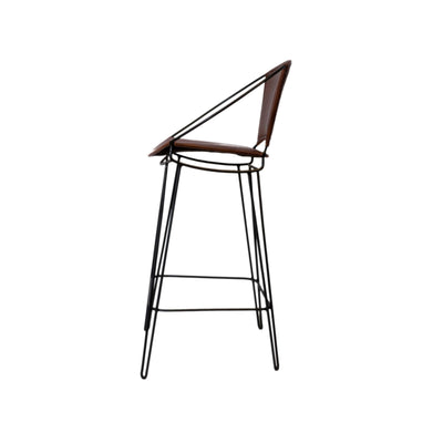 Iron + Leather PRIMO Bar Chair