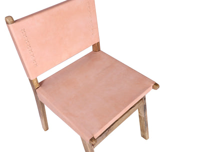 wooden leather chair