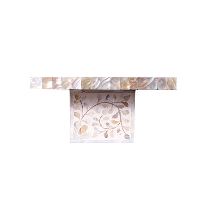 Floral Mother of Pearl Cake Stand (White)
