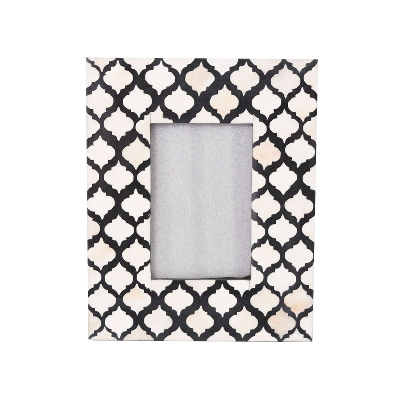 Bone Inlay Fish Scale Photo Frame (Black)