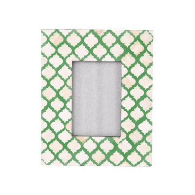 Bone Inlay Fish Scale Photo Frame (Green)