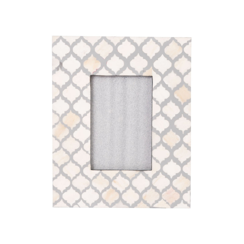 Bone Inlay Fish Scale Photo Frame (Grey)