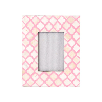 Bone Inlay Fish Scale Photo Frame (Pink)