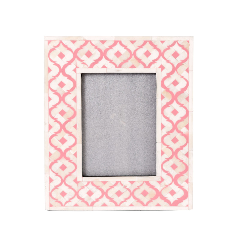 Bone Inlay Moroccan Photo Frame (Pink)