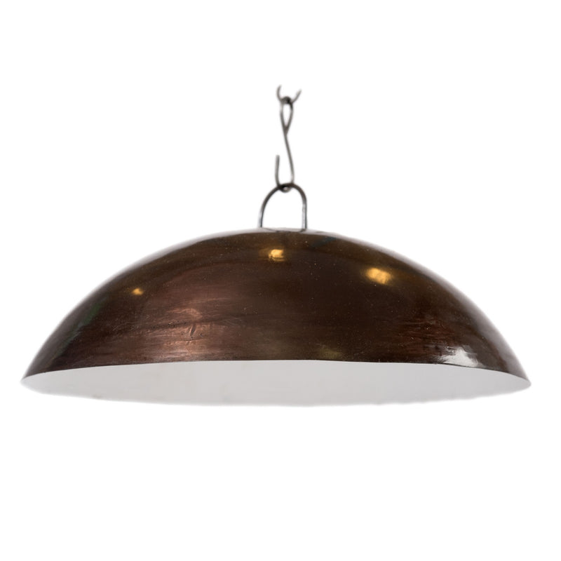 Iron Hanging Dome Lamp - Brown Brass