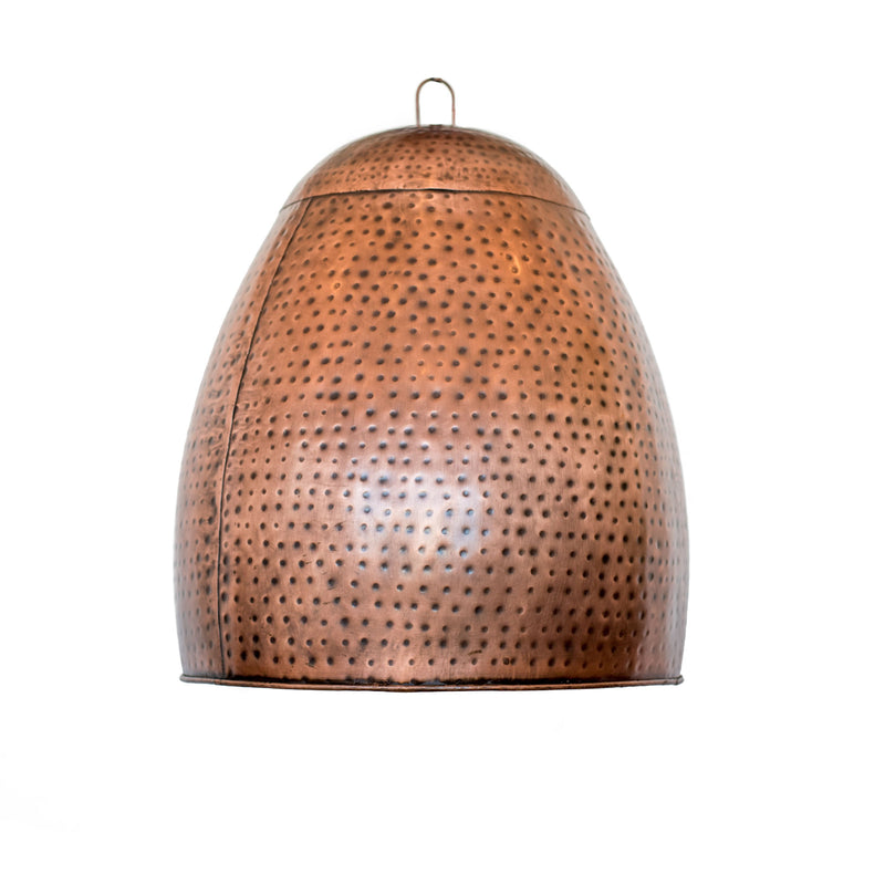 Copper Oval Hanging Lamp