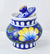Blue port hand made pottery jar
