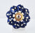 Ceramic knob royal blue