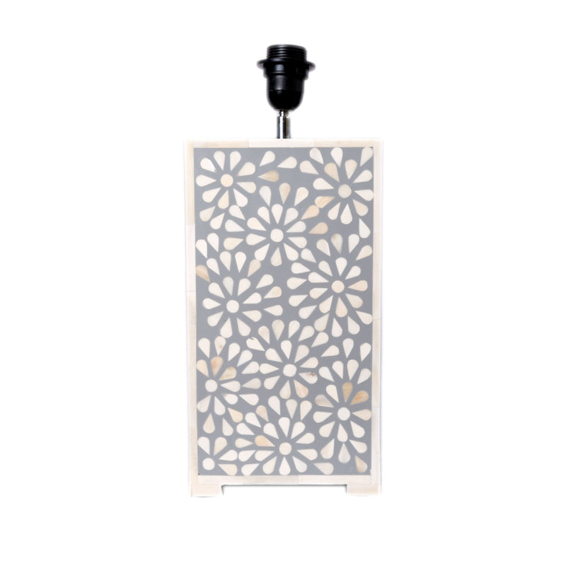 Bone Inlay Floral Lamp (Grey)