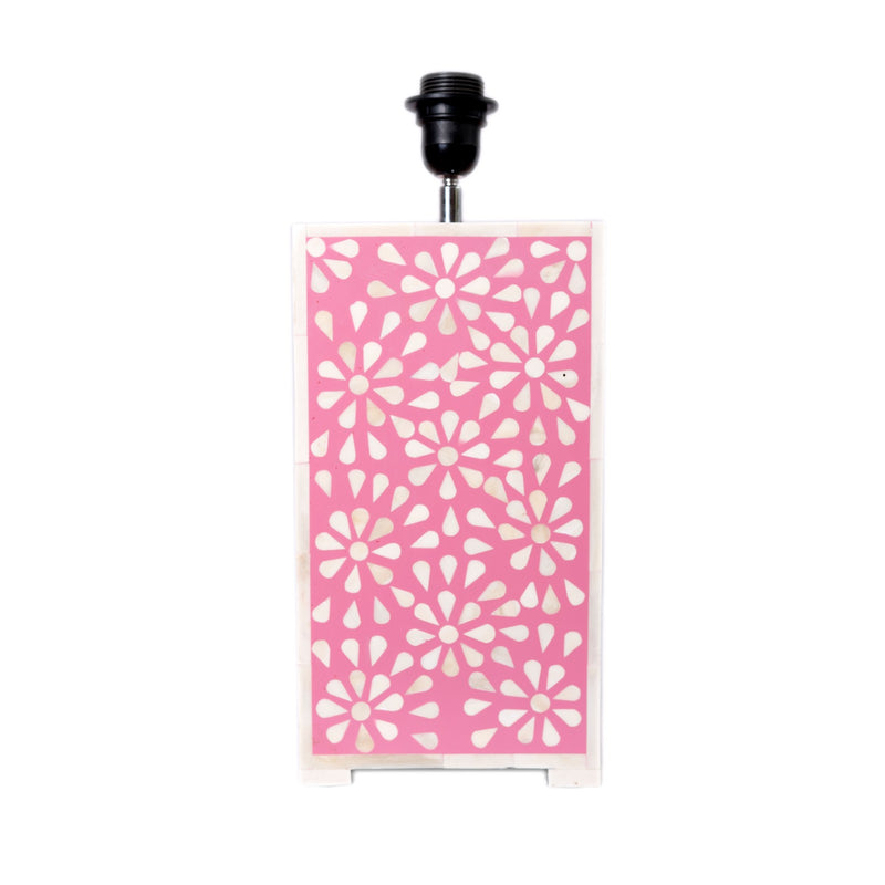 Bone Inlay Floral Lamp (Pink)