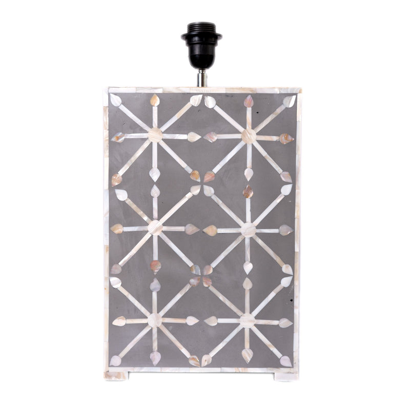 Mother of pearl Inlay Star Lamp (Grey)