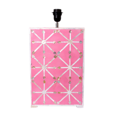 Mother of pearl Inlay Star Lamp (Pink)