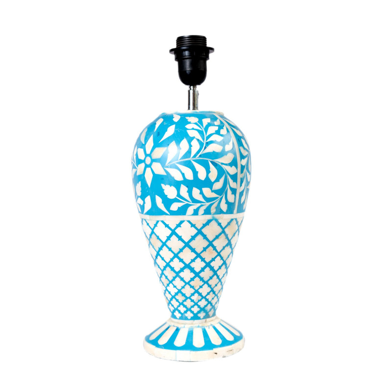 Bone Fish Cut Floral Lamp (Blue)