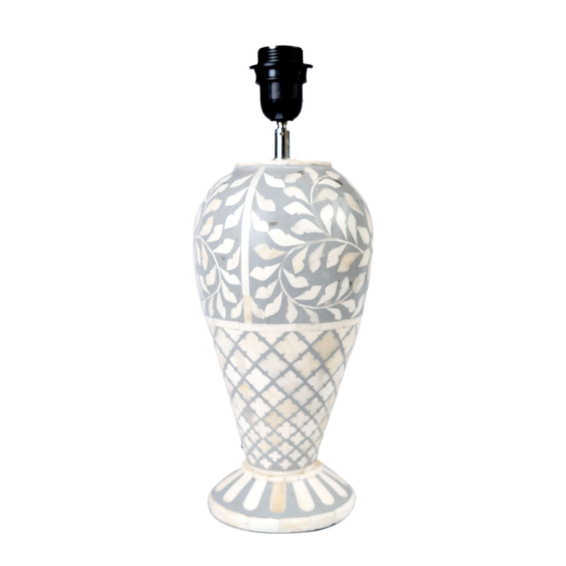 Bone Fish Cut Floral Lamp (Grey)