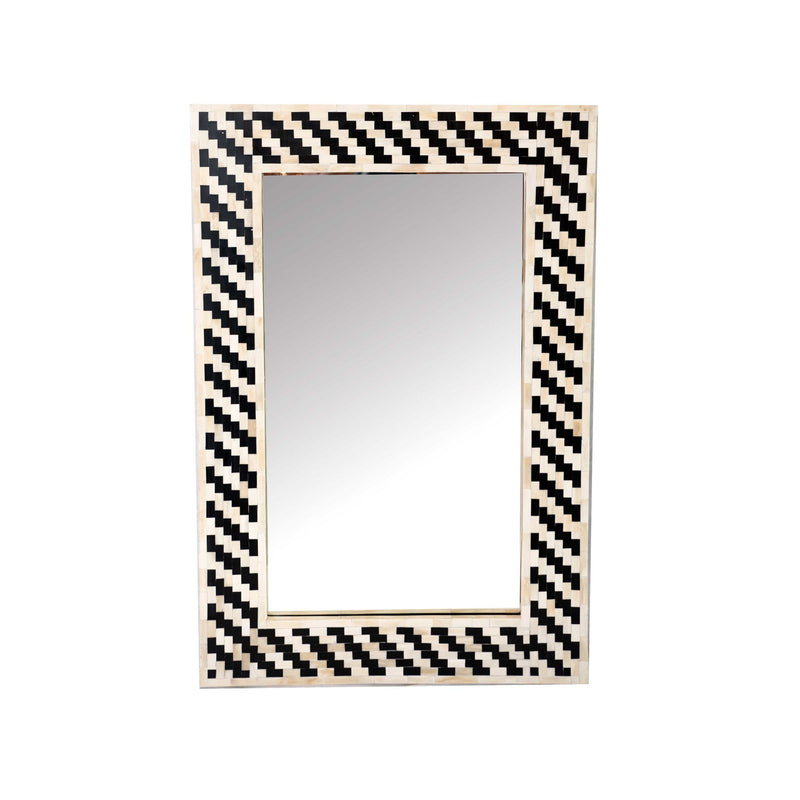 Bone Mirror Zigzag  (Black & White)