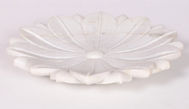 Lotus marble  decorative plates ( x large)