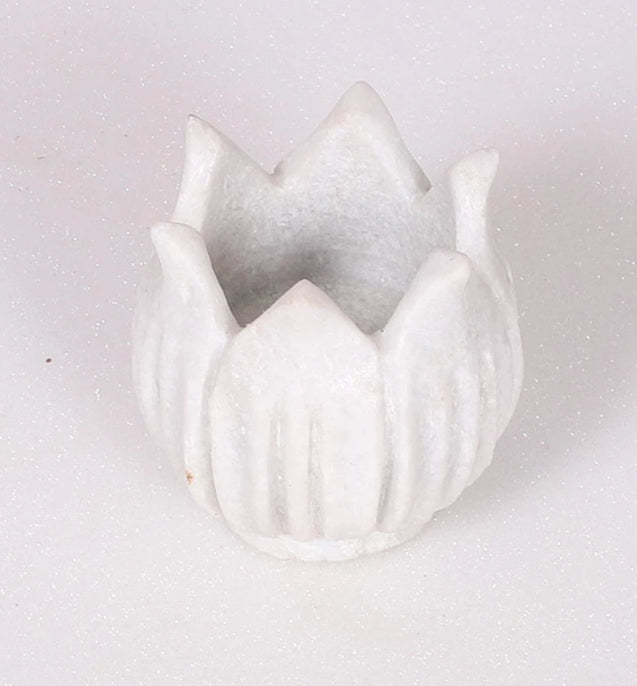 Lotus marble candle stand