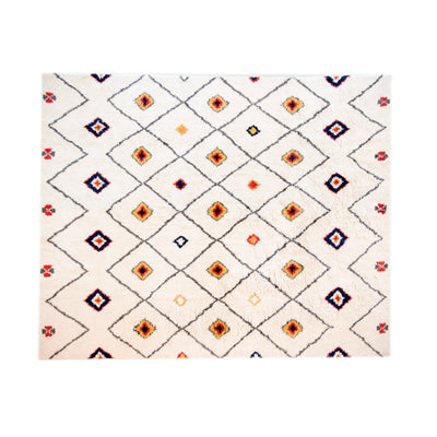 Kilim Wool rug - White Dot Diamonds